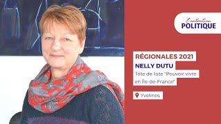 """Entretien Politique avec Nelly Dutu, Tête de liste Yvelines """"Pouvoir vivre en IDF"""""""
