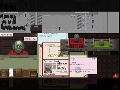 Papers, Please speedrun - ending 19 - 02:49:33 (old WR) Single Segment [Annotated]