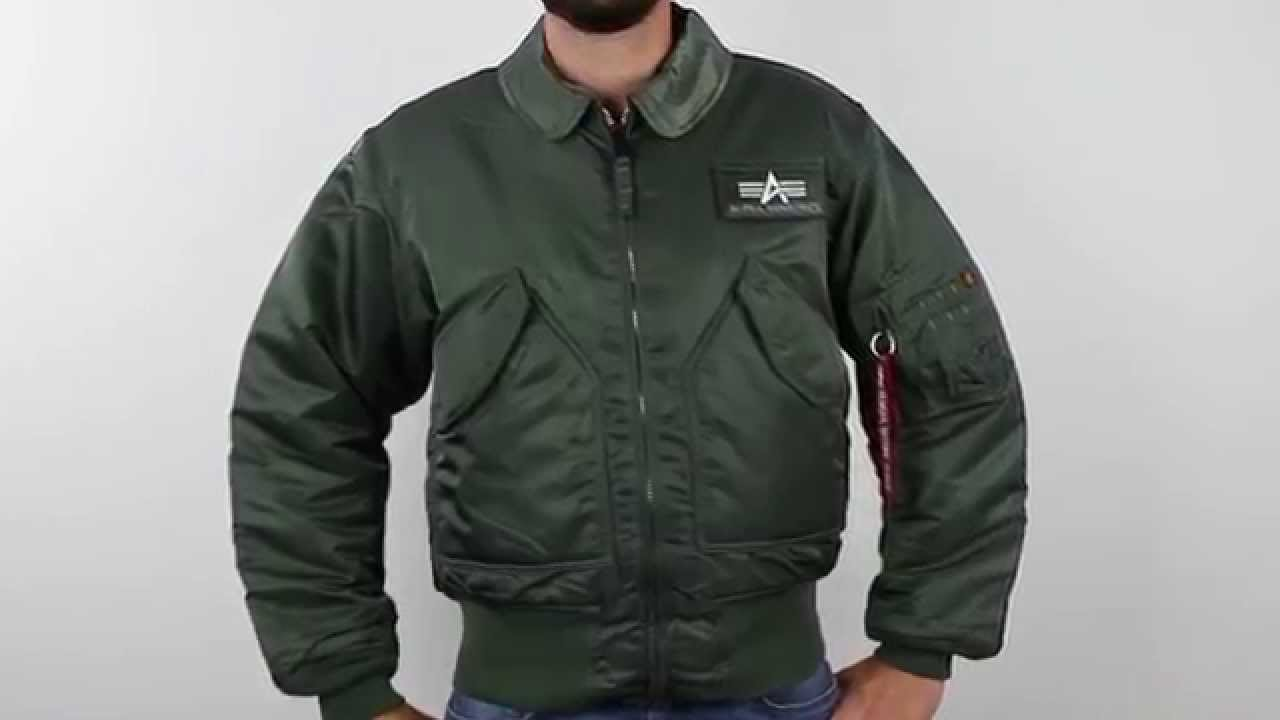 Alpha CWU-45P Nylon Flight Jacket - YouTube