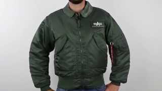 Alpha CWU-45P Nylon Flight Jacket
