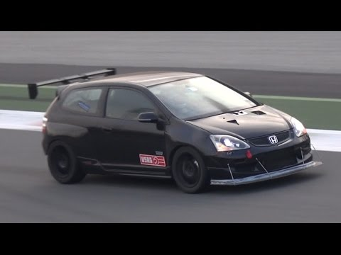 400hp turbo k20 honda civic ep3 type r screaming on track. Black Bedroom Furniture Sets. Home Design Ideas