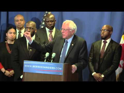 Press Conference in Baltimore | Bernie Sanders