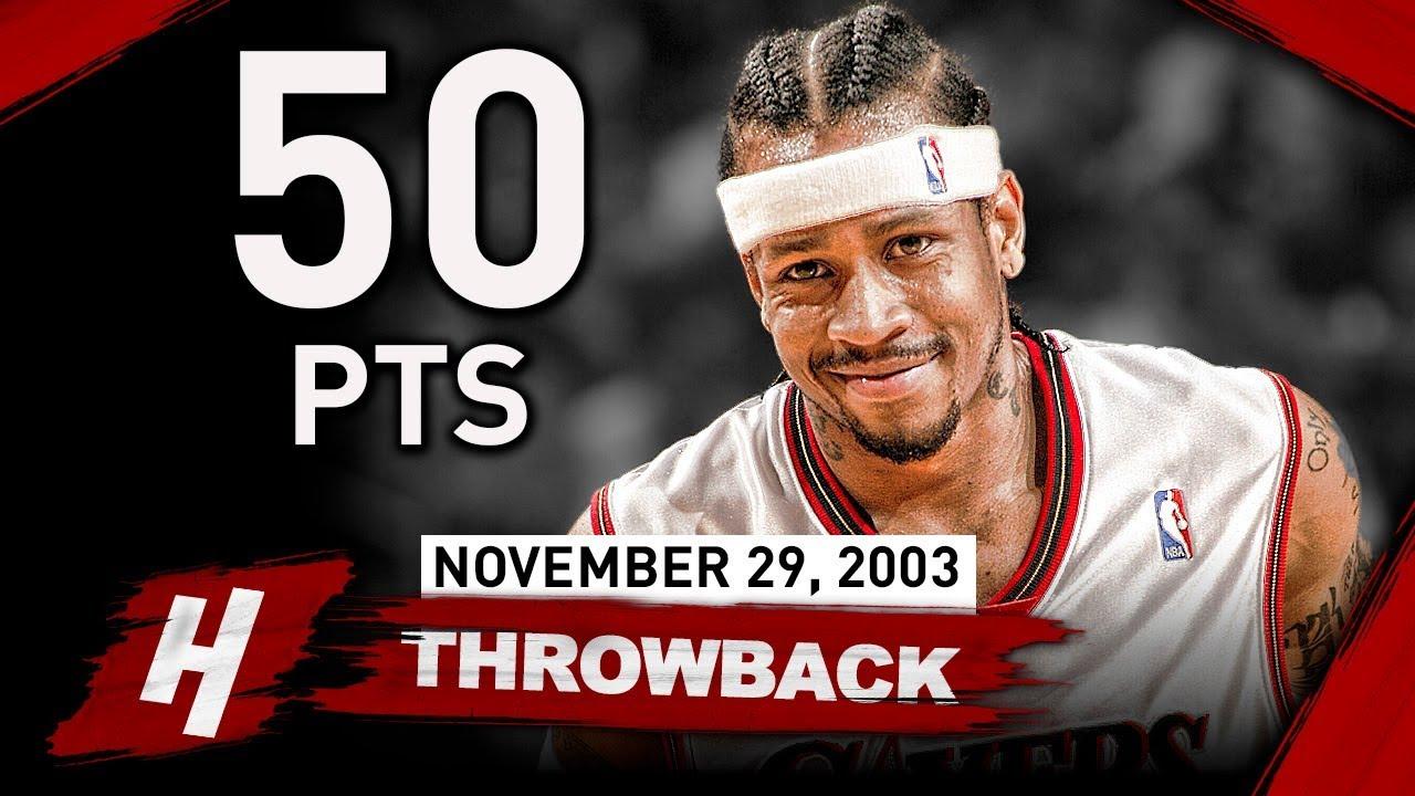 d2088b45bd1 Throwback  Allen Iverson CRAZY Full Highlights vs Hawks 2003.11.29 - 50  Points!