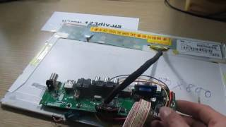 How to make LCD TV from Panel Laptop