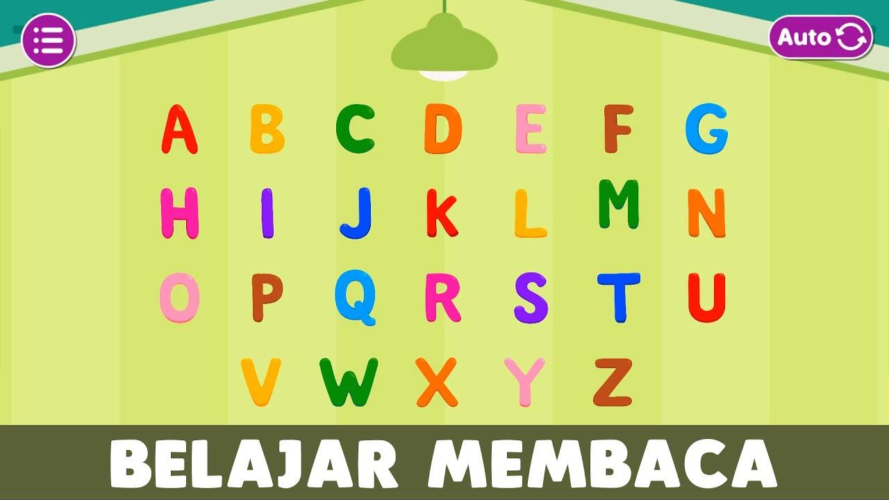 Huruf Abjad Alfabet ABC Bahasa Indonesia   Belajar Membaca Huruf BESAR