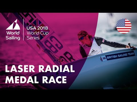 Full Laser Radial Medal Race  Sailing's World Cup Series  Miami, USA 2018