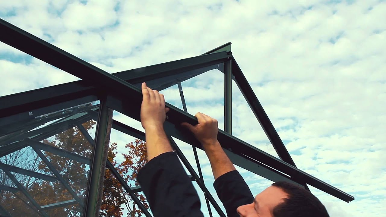 How To Fit A Greenhouse Sliding Door Track Youtube