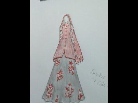 How to draw indian wedding dress#9