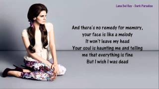 Repeat youtube video Lana Del Rey - Dark Paradise - Lyrics
