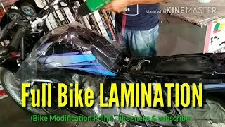 How to Bike Lamination, Bike Modification Point  , Bike modified, Full Bike Wrapping ,