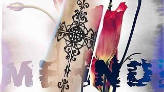 Крест с узорами , как нарисовать хной  (мехенди).Роспись по телу.