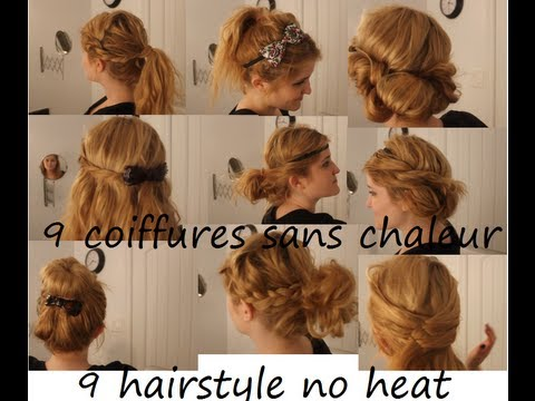 no heat hairstyles 9 coiffures sans chaleur tutorial. Black Bedroom Furniture Sets. Home Design Ideas