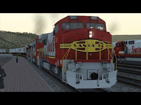 Train Simulator 2018: Raton Pass - ATSF Dash 8-40BW - Westbound Intermodal