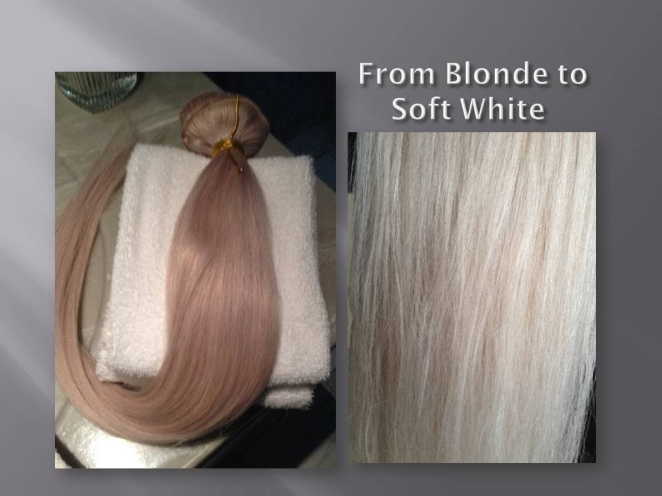 Toning Blonde Human Hair Extensions To Soft White F Youtube
