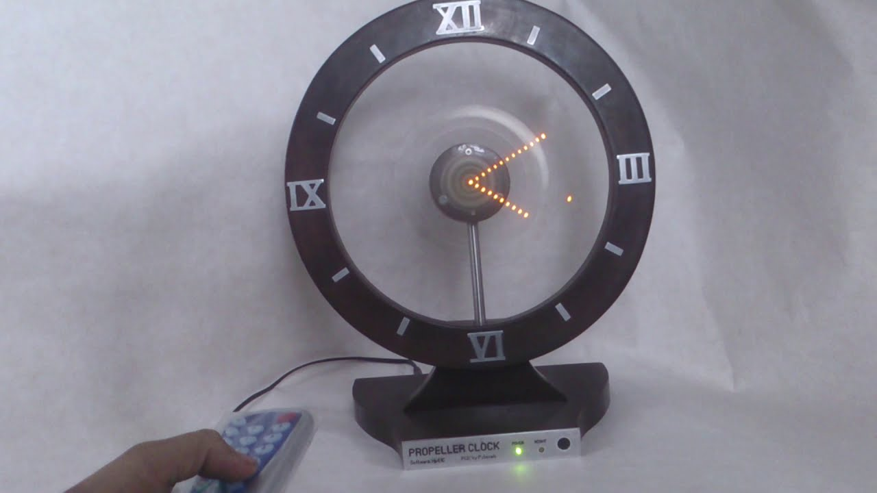 propeller clock Ir detector at the propeller picks up the ir signal for reference ds1302 was used to keep track of the time it's programmed to display the clock except on christmas day when it will read merry christmas in the bottom and my family's name's on the top for 30 seconds every minute (as shown in the video.