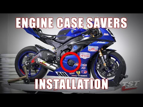 How to install Womet-Tech Engine Case Savers on a Yamaha R6 by TST Industries