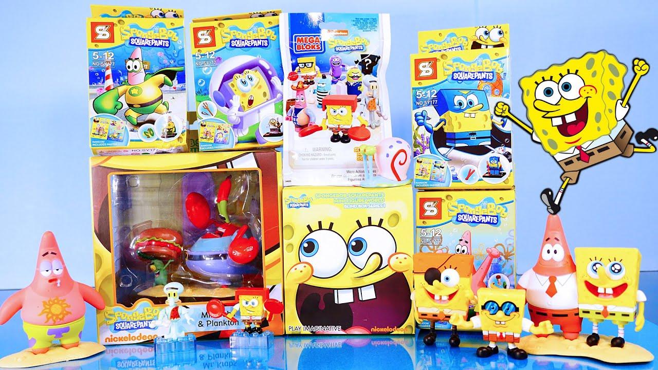 spongebob squarepants toys videos opening blind bag mr krabs u0026 plankton set disney cars toy club - Spongebob Bedroom Set