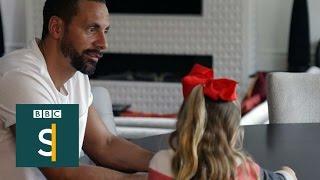 Rio Ferdinand helps his kids grieve - BBC Stories
