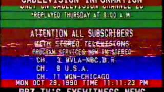 Cablevision bulletin Oct 29, 1990 (Baton Rouge)