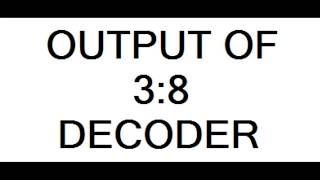 3 8 decoder simulation using vhdl in xilinx