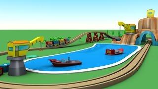 cartoon für Kinder - Zug cartoon - Zug für die Kinder - Transport-Namen - Spielzeug-Fabrik, Zug