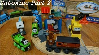 Reg & Percy at the Scrapyard Wooden Railway Set Unboxing 2 of 2