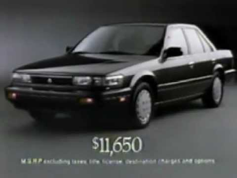 1990 Nissan Stanza Commercial - YouTube
