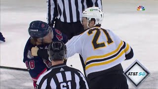 NHL Fight - Bruins @ Rangers - Lemieux vs Ritchie - 28 02 2021