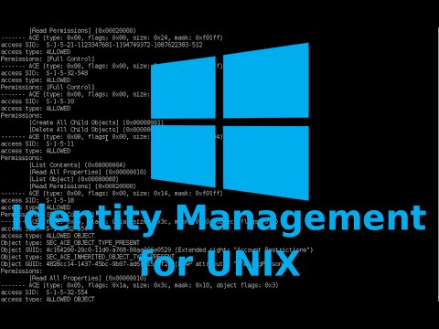 Installation of Identity Management for Unix and configuration of Unix attributes tab