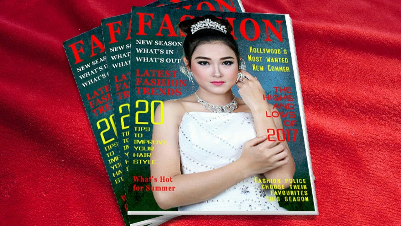 Magazine Cover Page Design In Photoshop Photoshop Tutorial