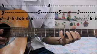 Leads/Tabs - Mere Rashke Qamar - Baadshaho - Complete guitar lesson tabs - junaid