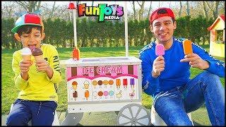 Jason Play with Ice Cream Cart