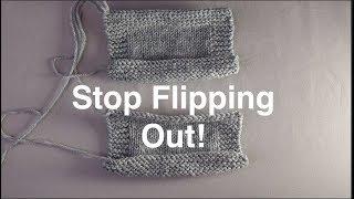 Preventing Garter Stitch Flip