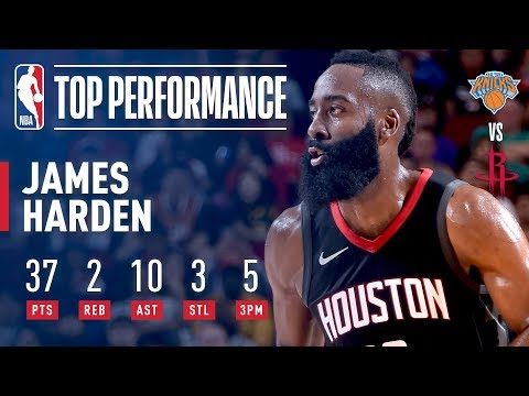 James Harden Scores 37 Points, Dishes 10 Assists vs. Knicks | November 25, 2017
