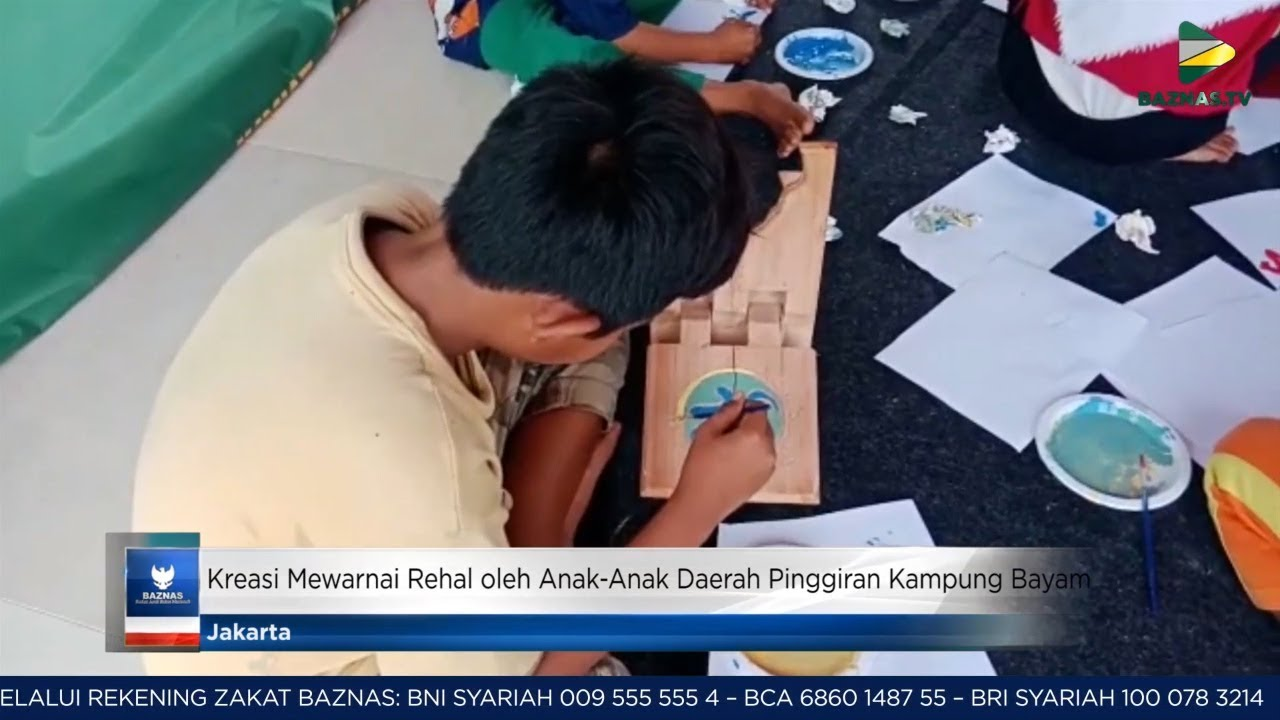 BAZNAS News Kreasi Mewarnai Rehal Oleh Anak Anak Daerah Pinggiran Kampung Bayam