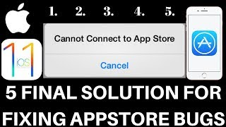IOS 11 FINAL SOLUTIONS FOR APP STORE CANNOT CONNECT, STUCK ON WAITING
