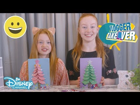 Vlogger Takeover | DIY - 3D Chrismtas Cards | Disney Channel UK