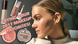VIEWER'S CHOICE: Trying Out YOUR Best of 2017 Makeup Products