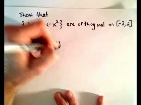 Inner Product and Orthogonal Functions , Quick Example
