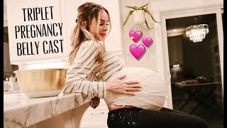 TRIPLET PREGNANCY BELLY CAST | 43 INCH BELLY! | HALLOWEEN COSTUMES | VERY EXCITING TRIPLET NEWS!!!