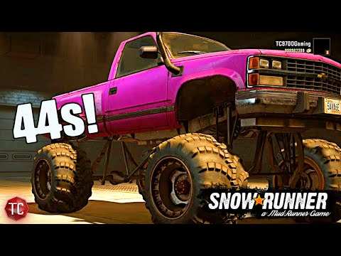 SnowRunner: The ULTIMATE Chevy K1500!! HUGE LIFT & 44 INCH MUD TIRES!