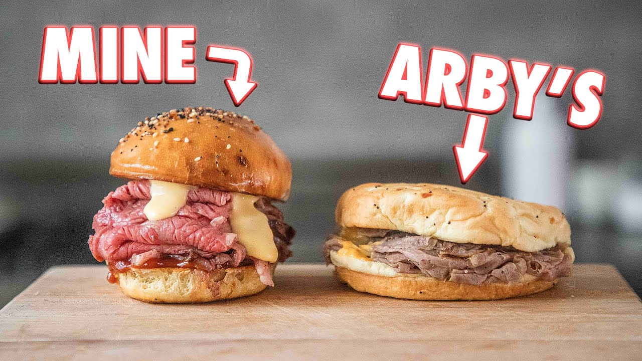 Making The Arby's Beef 'N Cheddar At Home | But Better