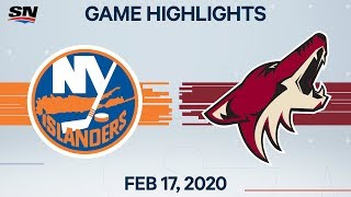 NHL Highlights | Islanders vs. Coyotes - Feb. 17, 2020