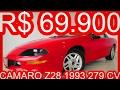 TRIUNFO R$ 69.900 Chevrolet Camaro Z28 1993 Coupe Vermelho 5.7 V8 279 cv #CAMARO