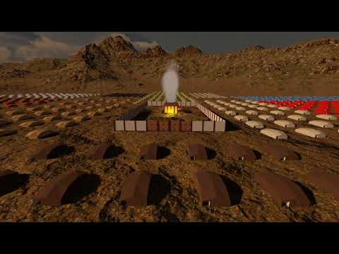 Camp Of Israel Arount The Tabernacle - New