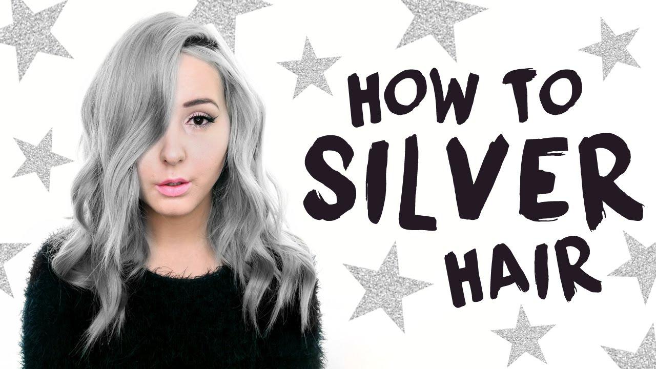 silver grey hair tutorial