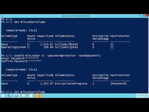 Configure BitLocker Encryption With PowerShell