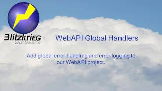 WebAPI 2: Global Error Handling and Tracing