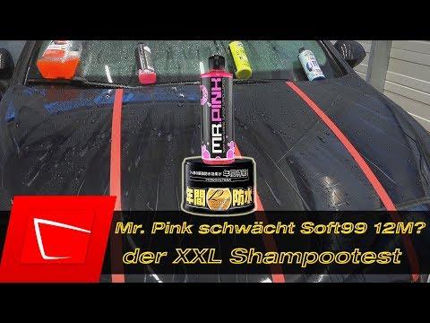 Chemical Guys Mr. Pink Shampoo schwächt Soft99 12M - Citrus Wash & Gloss Glossworks u. Sonax im Test