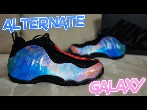 "NIKE AIR FOAMPOSITE ONE ""ALTERNATE GALAXY"" BIG BANG FULL DETAILED REVIEW & COMPARSION"